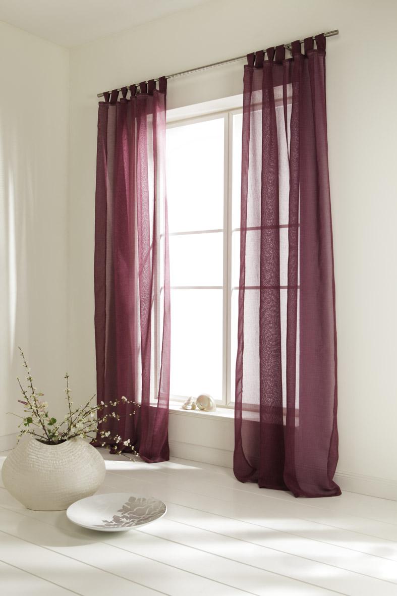 schlaufenschal dekoschal leinen optik brombeere ebay. Black Bedroom Furniture Sets. Home Design Ideas