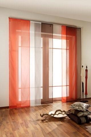 schiebevorhang schiebegardine transparent inkl zubeh r ebay. Black Bedroom Furniture Sets. Home Design Ideas